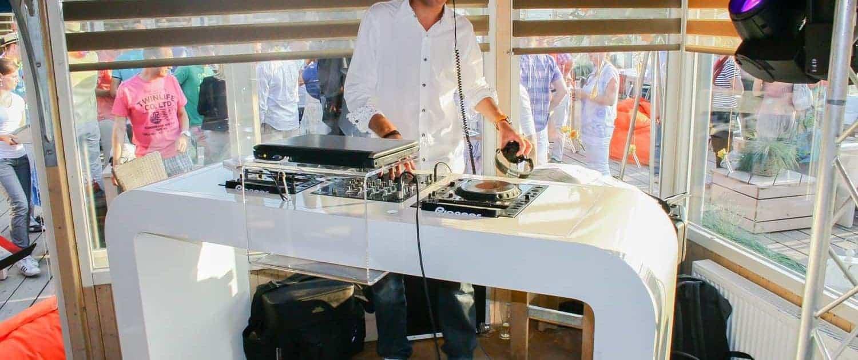 Verhuur DJ booth White