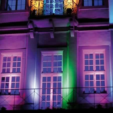 Uitlichten van gebouwen
