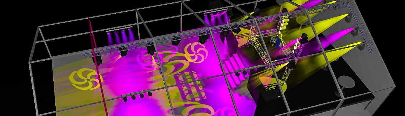 lichtshow met 3d ontwerp