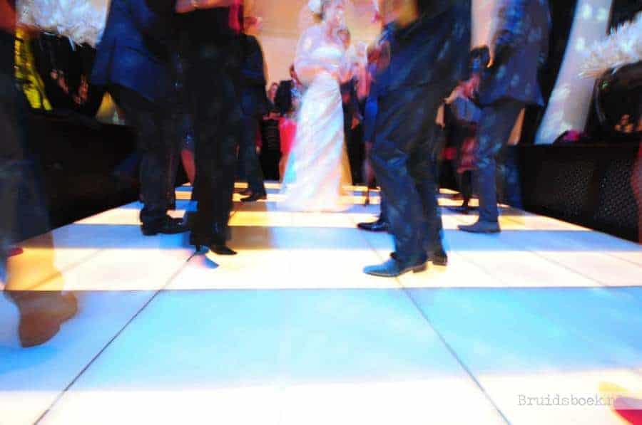 Verlichte Dansvloer Bruiloft Te Werve
