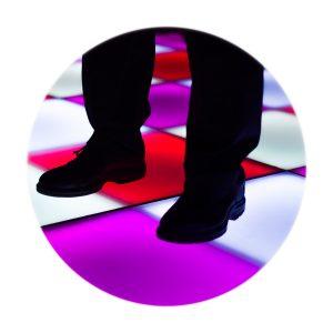 Verhuur verlichte dansvloer delen