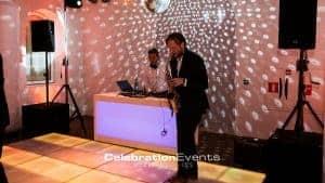 DJ met saxofonist - Personeelsfeest Aircab