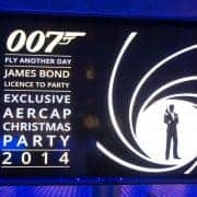 Themafeest James Bond Personeelsfeest Aircab