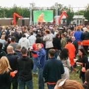 LED Scherm huren voor voetbalwedstrijd