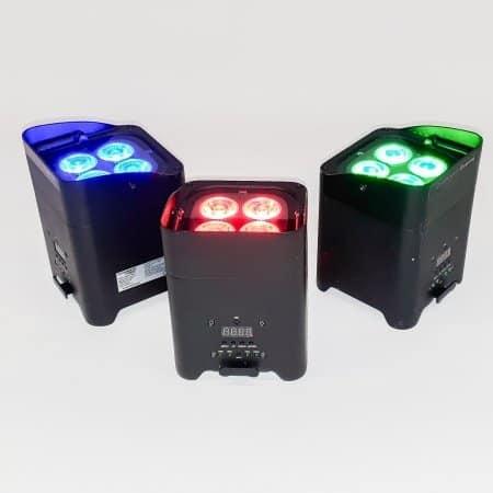 Verhuur gekleurde LED spots op accu