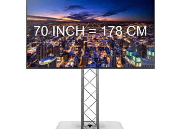 70 inch 4k tv huren