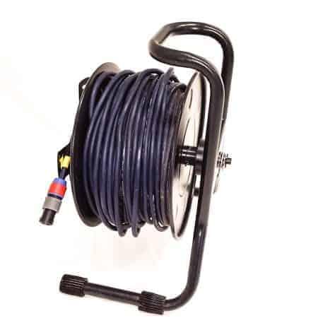 Verhuur 50 meter speakon 2P kabel op haspel