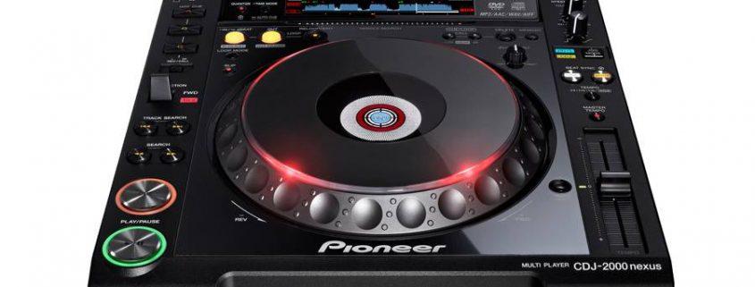 Verhuur Pioneer CDJ2000nexus CD speler