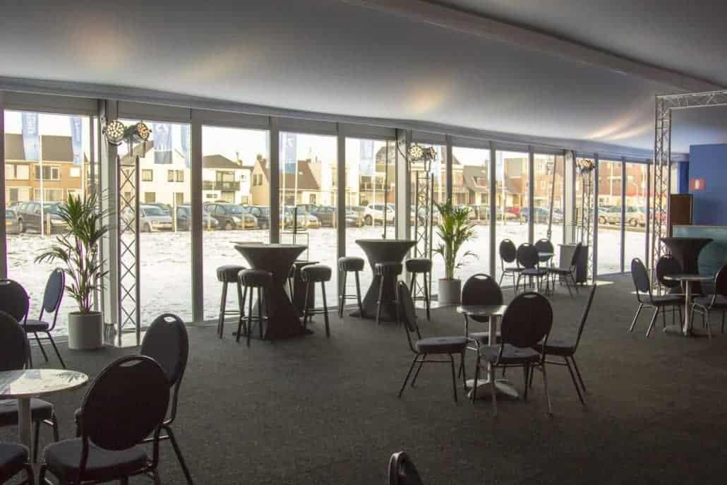 Licht en geluidstechiek op het podium en in het schaakpaviljoen Tata Chess 2013