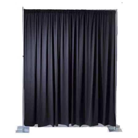 Verhuur Pipe & drape Zwart 4 meter hoog