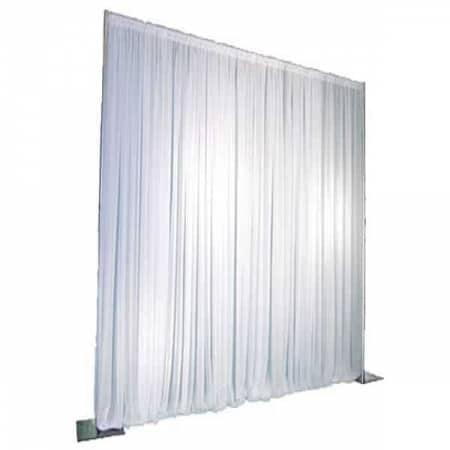 Verhuur Pipe & drape Wit 4 meter hoog