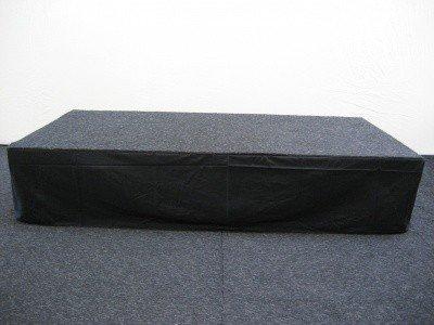 Tappijttegels en afrokken podium zwartTappijttegels en afrokken podium zwart