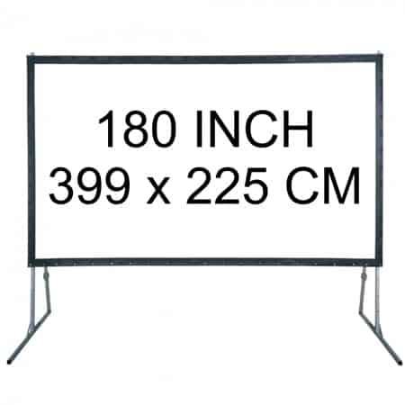 Verhuur 180 inch Projectiescherm excl beamer