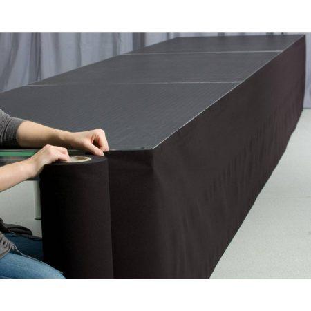 Podiumrok met klittenband 40, 60, 80, 100 cm hoog.