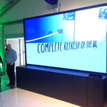 138 inch led scherm voor beursstand