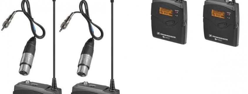 Verhuur Senheiser stereo wireless audio transmitter en receiver kit