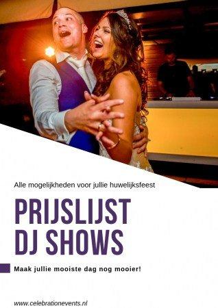 Prijslijst bruiloft dj & drive-in shows