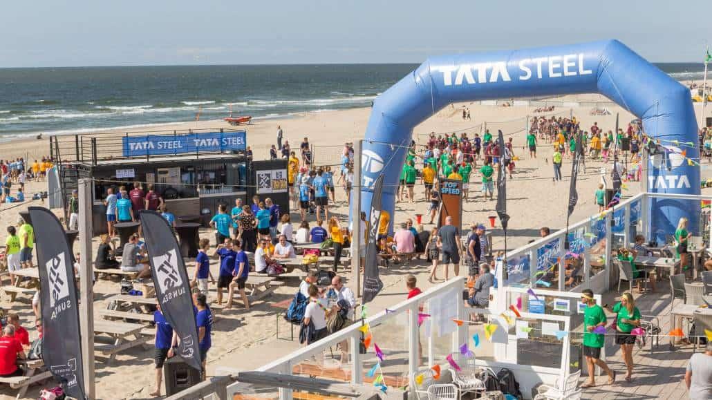 Geluid voor tijdens Beachvollebal toernooi TATA