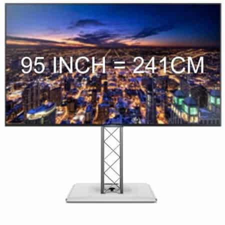 Verhuur van 95 inch TV inclusief standdaard