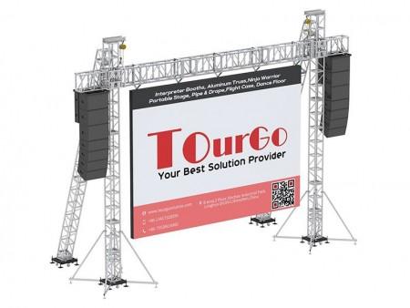 Verhuur modulair led scherm voor indoor evenementen.