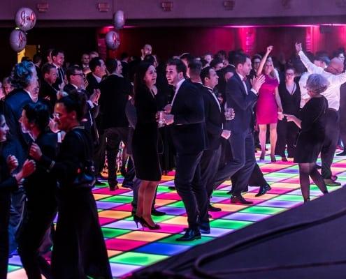 Verlichte dansvloer 4x4, Tijdens feestavond Kick-Off Event.