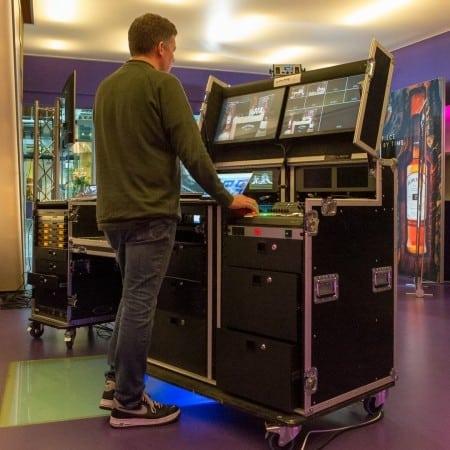 Verhuur videoregie in flightcase