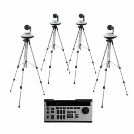 Verhuur 4 PTZ videocameras op statief