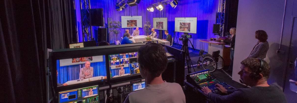 Livestream studio voor Webinar