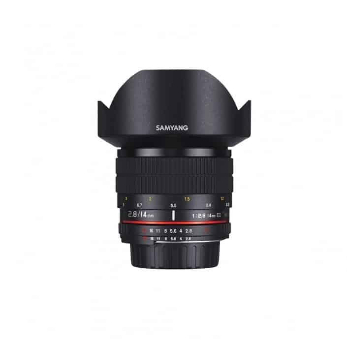 Verhuur Samyang 14 mm 2.8 - Canon EF