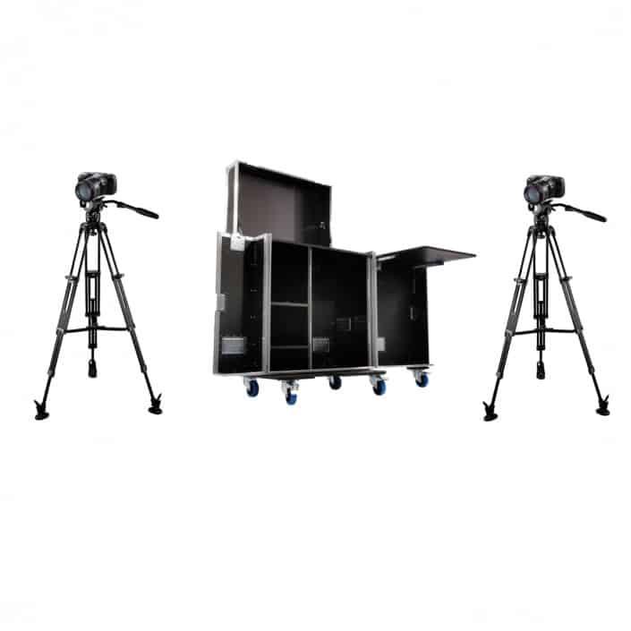 Livestream set - inclusief cameras, microfoons en Atem mini Pro videomixer