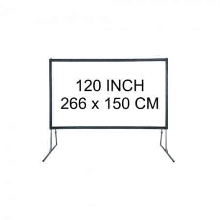 Verhuur 120 inch Projectiescherm excl beamer