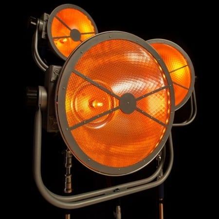 Vintage LED-Halogeen lamp op statief